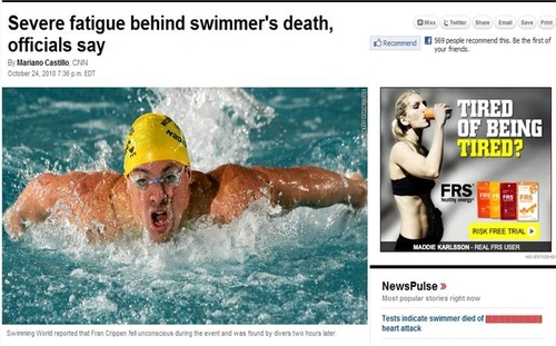 swimmers death Ad Placement Fail