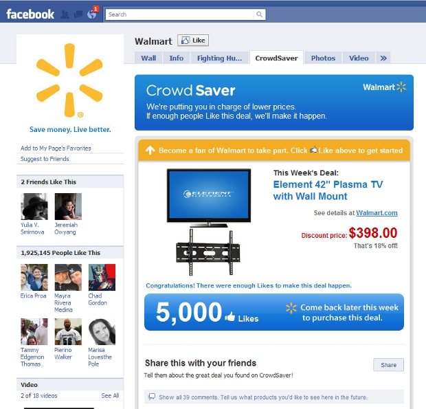 walmart2 Walmart Now Doing Group Buying On Facebook
