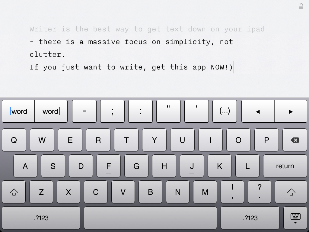 writer mode1 Writer Is How iPad Apps Should Be Designed