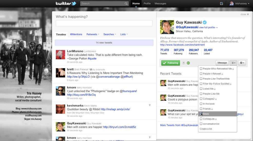 14 Twitter   Home How to: Build a social media dashboard