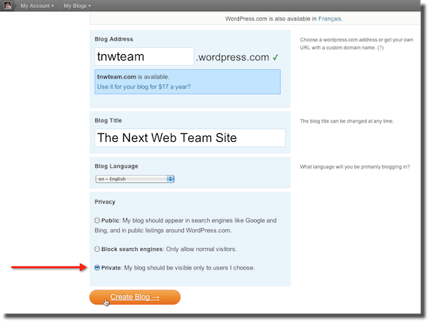 2010 11 24 20 25 471 How To: Build a private collaboration site on WordPress.com in 5 minutes