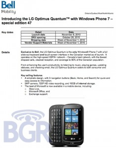 Bell Optimus Launch 1 235x300 LG Optimus Quantum Coming to Bell Mobility November 8th