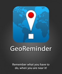 GeoReminder e1290619031770 260x311 TryThis: GeoReminder. Location based reminders with an iPhone