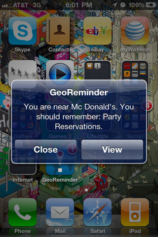 GeoReminder3 TryThis: GeoReminder. Location based reminders with an iPhone