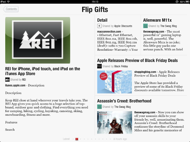 IMG 0096 Flipboards new FlipGifts section could redefine shopping catalogs