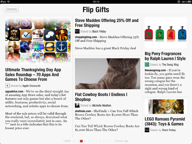 IMG 0097 Flipboards new FlipGifts section could redefine shopping catalogs