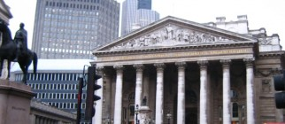 London - old Stock Exchange Montage