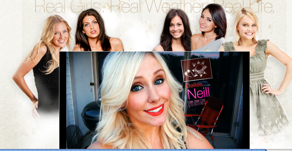 "Meet the ""Real Weather Girls,"" the world's first reality-show based app."