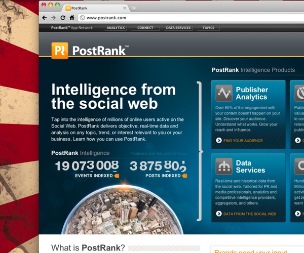 PostRank Adds Posting to Facebook & Analytics to PR Connect
