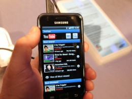 Samsung Galaxy S YouTube 260x195 Samsung becomes first advertiser to run ads on YouTubes mobile site