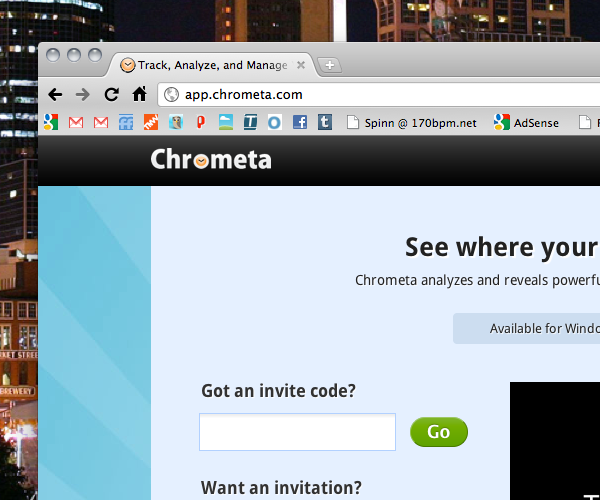 Time management without timers? That's the draw of Chrometa.