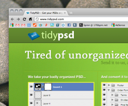 Screen shot 2010 11 08 at 11.14.44 AM 260x216 Try This: TidyPSD. A service to organize your Photoshop mess.