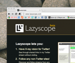 Screen shot 2010 11 09 at 11.59.47 AM 260x217 Lazyscope updates to bring user streams, smaller interface and more