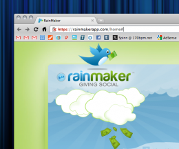 Screen shot 2010 11 19 at 10.28.17 AM 260x216 Rainmaker: Giving goes social with PayPal and Twitter.