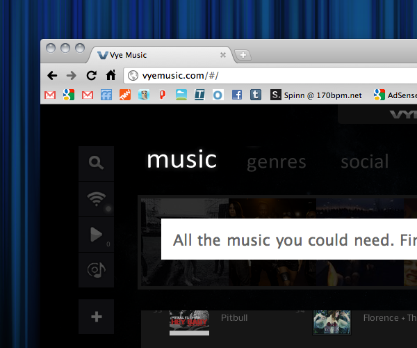 Try This: Vye Music. YouTube plus your iTunes leads to personalized MTV.