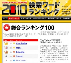 Screen shot 2010 11 26 at 12.22.30 e1290745409798 YouTube top search term in Japan for third year running