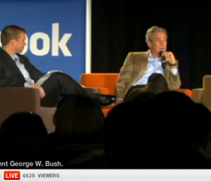 Screen shot 2010 11 29 at 4.55.59 PM 300x259 Facebook Live comes of age in an interview with George Bush