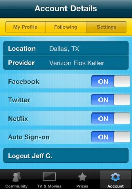 ScreenTribeAccountDetails 260x373 Checkout this check in app. ScreenTribe. TV and film check ins with a Netflix and charitable twist