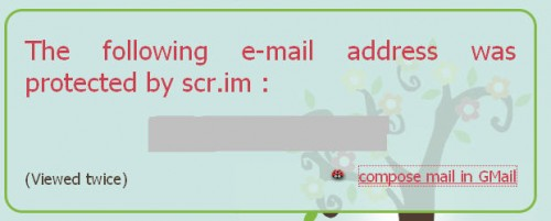 Scrimemailjpg1 500x201 Protect your email address and receive less spam with scr.im