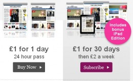 The Times paywall 260x158 Victory for paywalls? 105,000 shell out for Murdochs Times