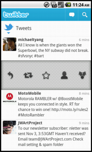 android105 1 302x500 Twitter for Android: Faster, cleaner and now with pull to refresh