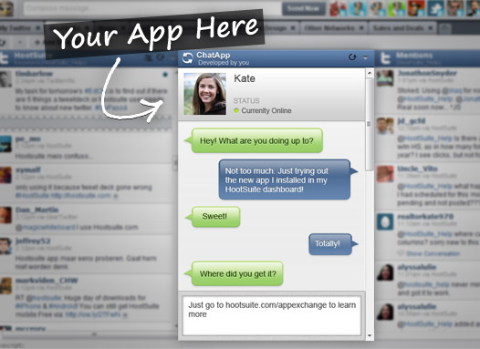 app preview Build Apps for HootSuite with App Exchange