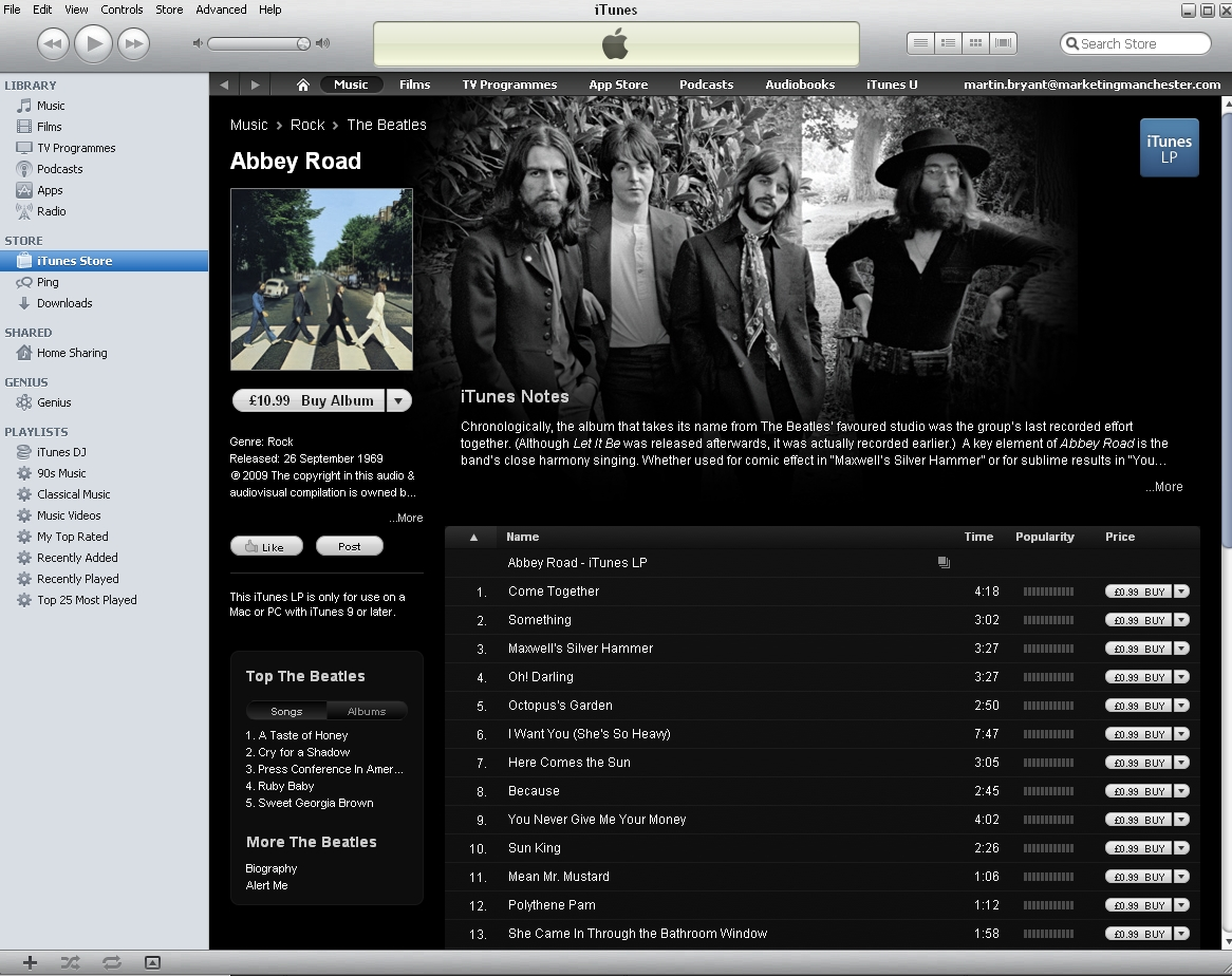 beatles Apple announces the complete Beatles catalog is now available in iTunes