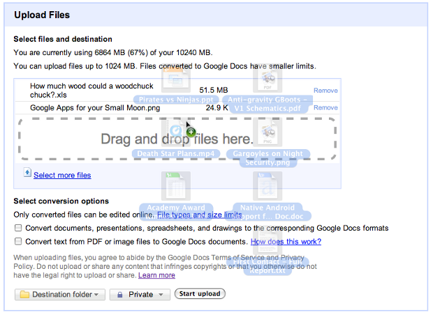 draganddrop1 Google Docs is rapidly getting better: now with drag and drop file uploads