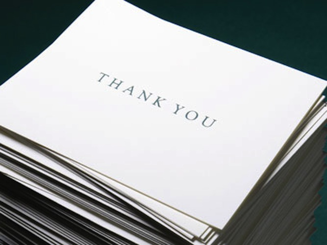Try This: ThankThank Notes. Making it easy to send hand-written thank you notes
