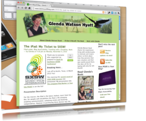 glendawh 300x250 Inspirational Glenda Watson Hyatt Speaking at SXSW