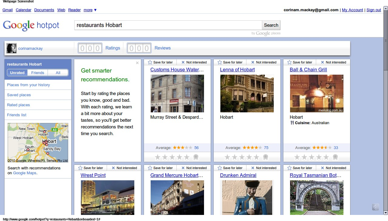 google33 Hotpot: Googles Local Recommendation Engine