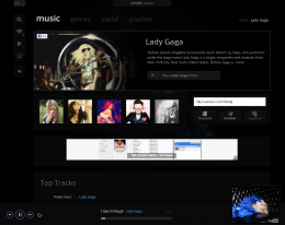 marketingImages VyeVerity    artistprofile gaga 260x206 Try This: Vye Music. YouTube plus your iTunes leads to personalized MTV.