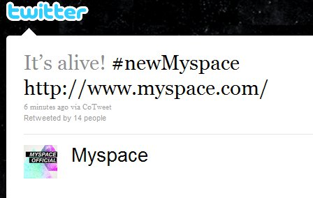 mysp New MySpace Design Is Now Live