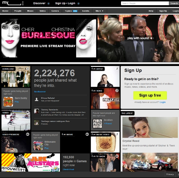 myspace New MySpace Design Is Now Live