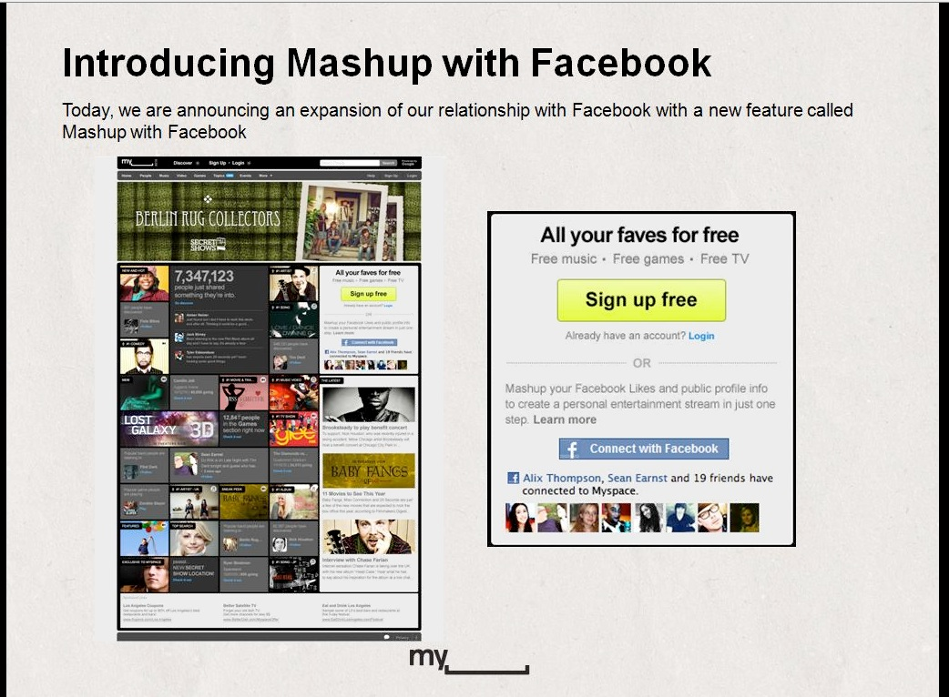 myspace1 Facebook likes MySpace, MySpace likes Facebook. Thats all folks. ...