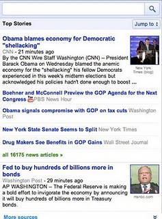 open Google News mobile now has universal smartphone interface