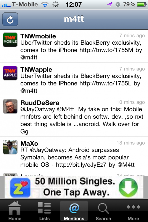 photo 3 620x930 UberTwitter sheds its BlackBerry exclusivity, comes to the iPhone