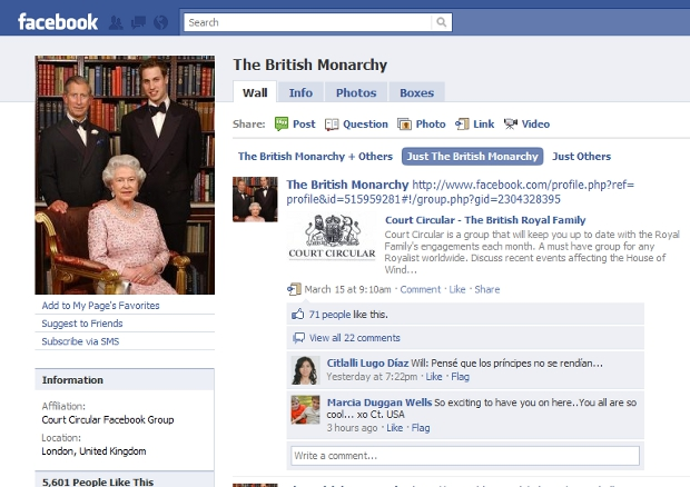 queen The British Monarchy takes up residence on a new royal Facebook Page