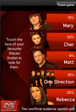 screach xfactor 260x382 First look: Screach packs serious interactive potential for TV and beyond