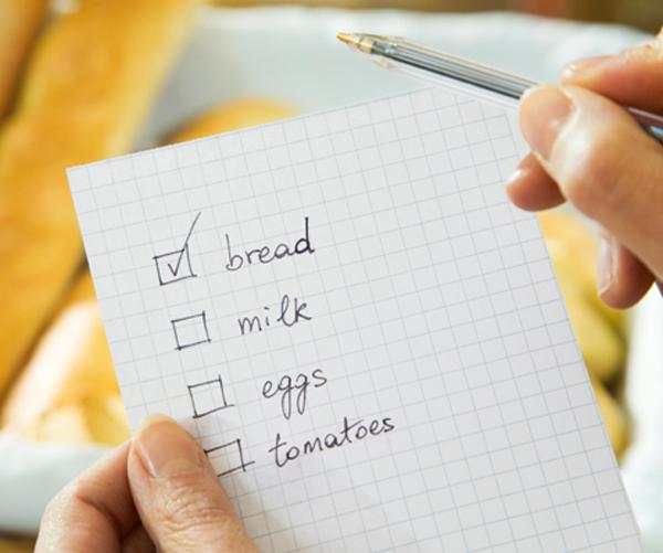 create a shopping list, shopping list