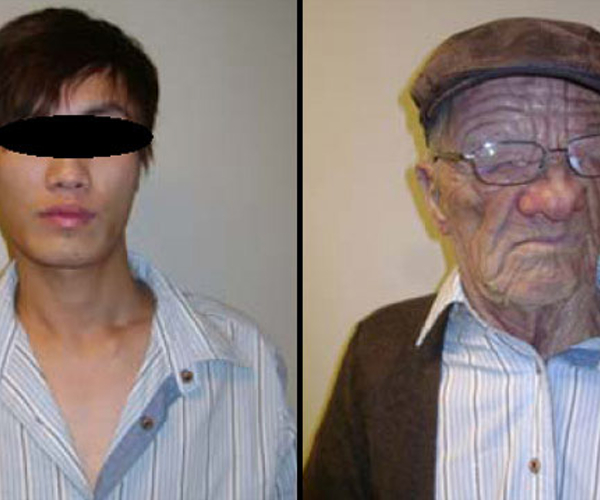Truly unbelievable. A man disguised as an old man boards international flight