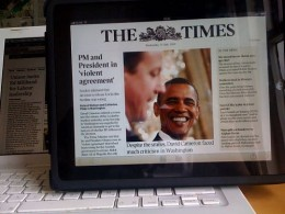 the times ipad app2 m 260x195 Three offers customers free access to The Times newspaper websites