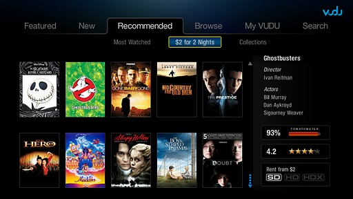 vudu1 Walmarts own Netflix, VUDU lines up Playstation 3 movie streaming