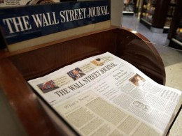 wall street journal 260x195 The Wall Street Journal releases app for Android tablets