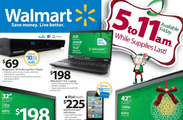 walmartad Walmart. Black Friday. $198 15″ laptop. Better get there early…
