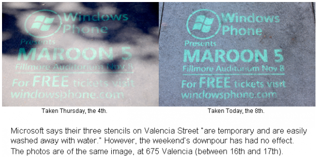 yeah 1 Microsoft admits to illegal graffiti in San Francisco to promote Windows Phone 7