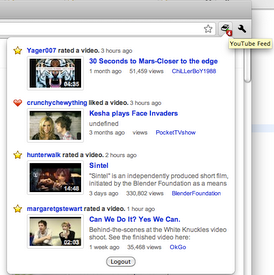 youtube feed Google launches official Chrome extensions for Calendar, Docs, YouTube