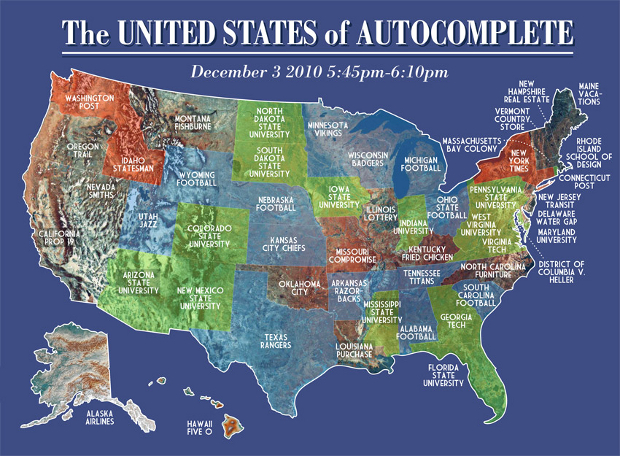 101203 autocomplete1 Cool US map made of Friday night Google autocompletes