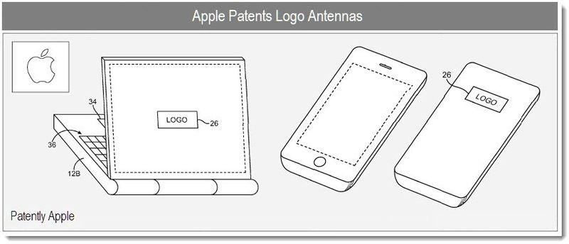 Apple to end antenna issues by placing it behind the Apple logo?