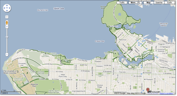 2010 12 01 16 08 34 Google Maps peddles new Canadian bike route feature